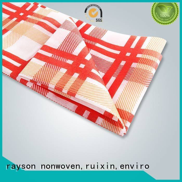 pp non woven fabric manufacturer tablecloths woven printed table covers rayson nonwoven,ruixin,enviro Warranty