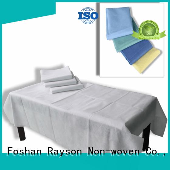 Hot non woven clothes examination bedsheet quality rayson nonwoven,ruixin,enviro Brand