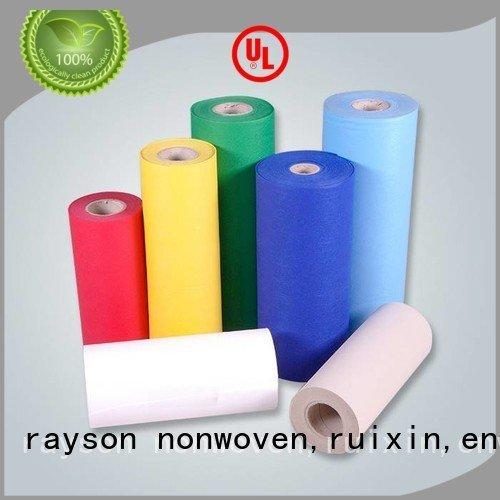 rayson nonwoven, ruixin, enviro Marque gaufré touché spunbond tissu non-tissé machine 90gsm
