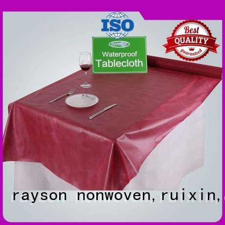 non woven polypropylene fabric suppliers 100cm 100 disposable table cloths rayson nonwoven,ruixin,enviro Warranty