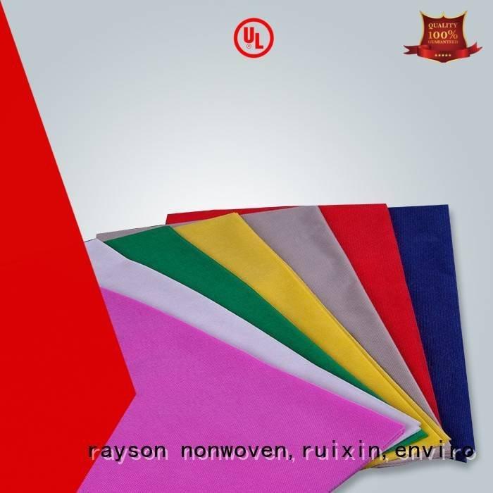 non woven cloth 70 precut OEM non woven tablecloth rayson nonwoven,ruixin,enviro