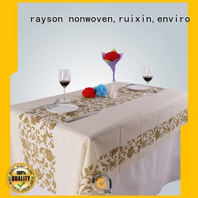 pp non woven fabric manufacturer painting printed table covers rayson nonwoven,ruixin,enviro Brand