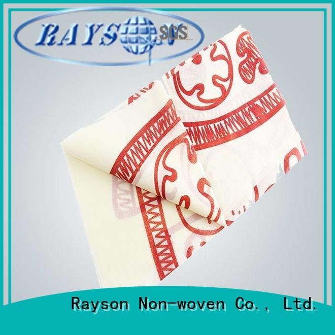 floral live color rayson nonwoven,ruixin,enviro printed table covers