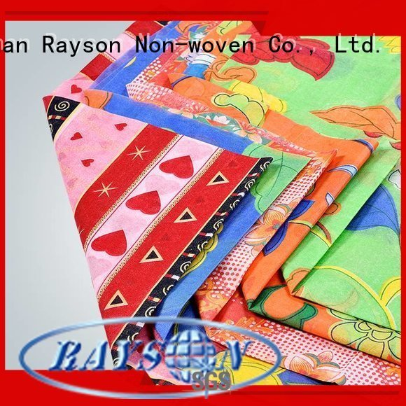 pp non woven fabric manufacturer fabric printed table covers rayson nonwoven,ruixin,enviro