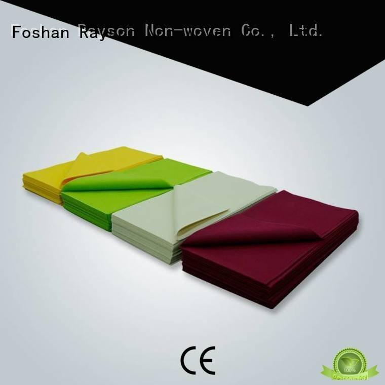 rayson nonwoven,ruixin,enviro non woven tablecloth tabelcloth oem pantone 100x100cm