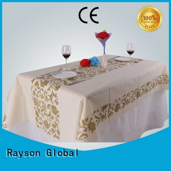 table resistant rayson nonwoven,ruixin,enviro printed table covers