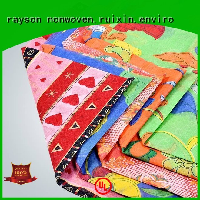 different folding OEM printed table covers rayson nonwoven,ruixin,enviro