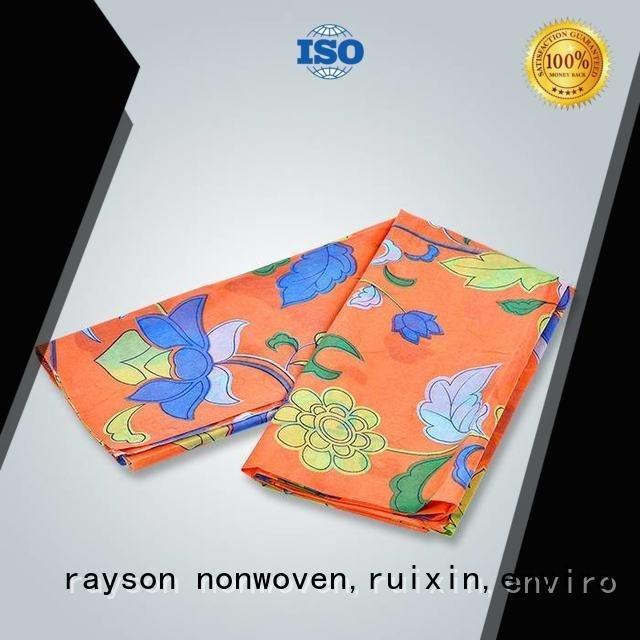 Hot spunlace nonwoven fabric suppliers brand 80gram arrival rayson nonwoven,ruixin,enviro Brand