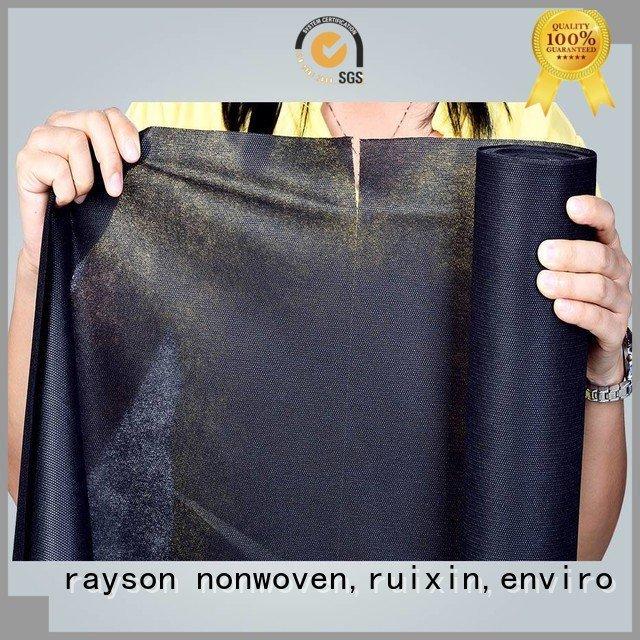 Custom non woven bag material polyester or raw rayson nonwoven,ruixin,enviro