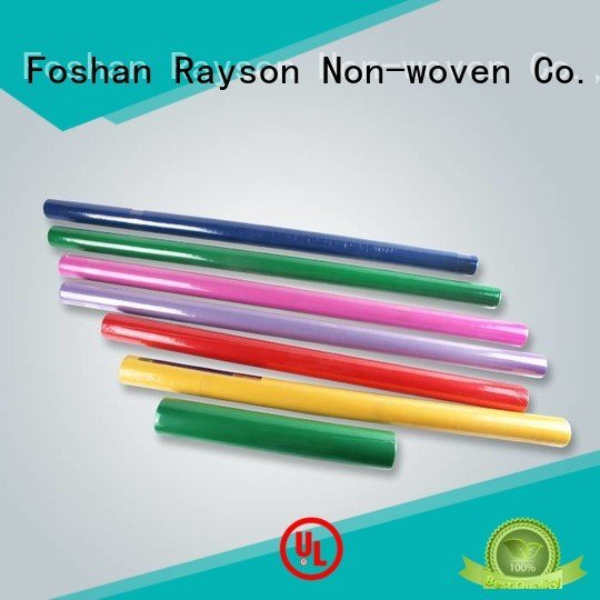 rayson nonwoven,ruixin,enviro colorful disposable table cloths water