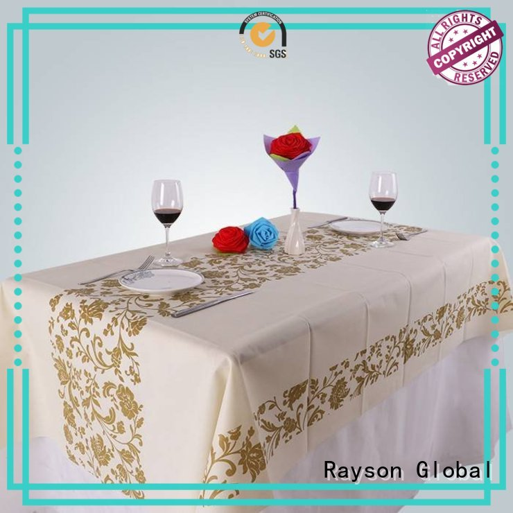 Hot printed table covers 60g rayson nonwoven,ruixin,enviro Brand